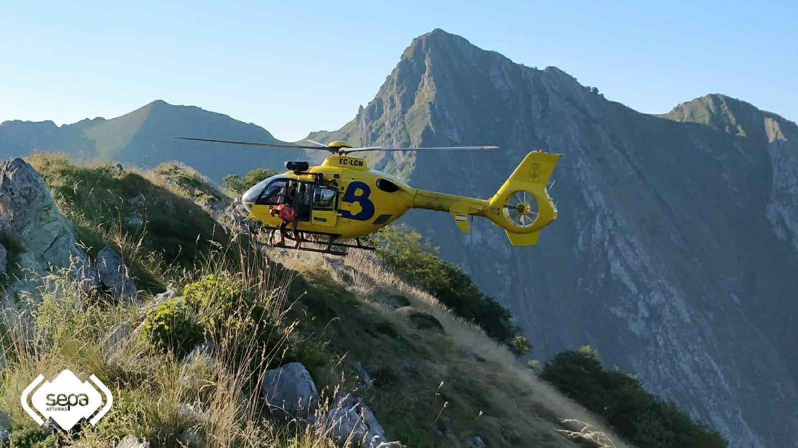 Rescates de montaña en Ponga y Cabrales