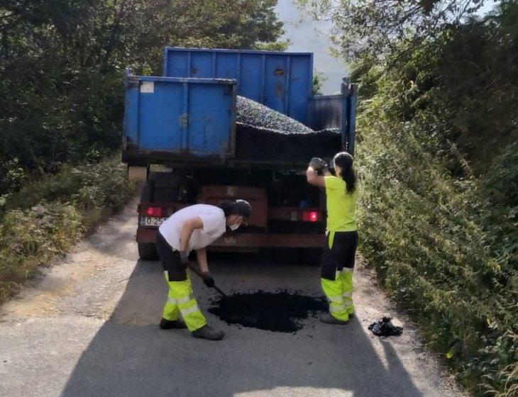 Comienza el Plan de Bacheo del ayuntamiento de Cangas del Narcea