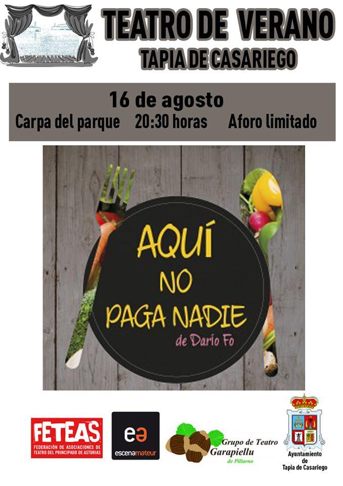 """Teatro de verano, """"Aquí no paga nadie"""" en Tapia de Casariego"""