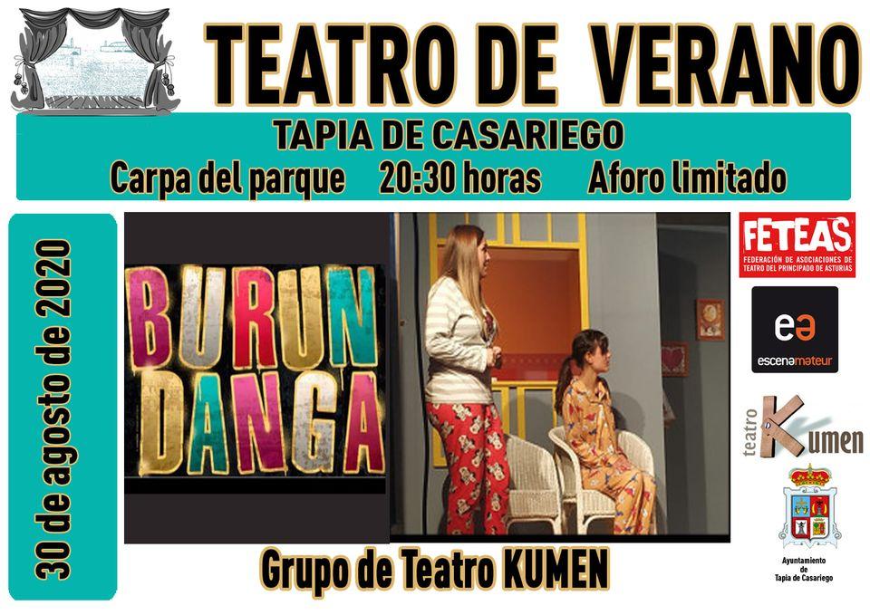 """Teatro de verano """"Burundanga"""", el domingo, en Tapia de Casariego"""