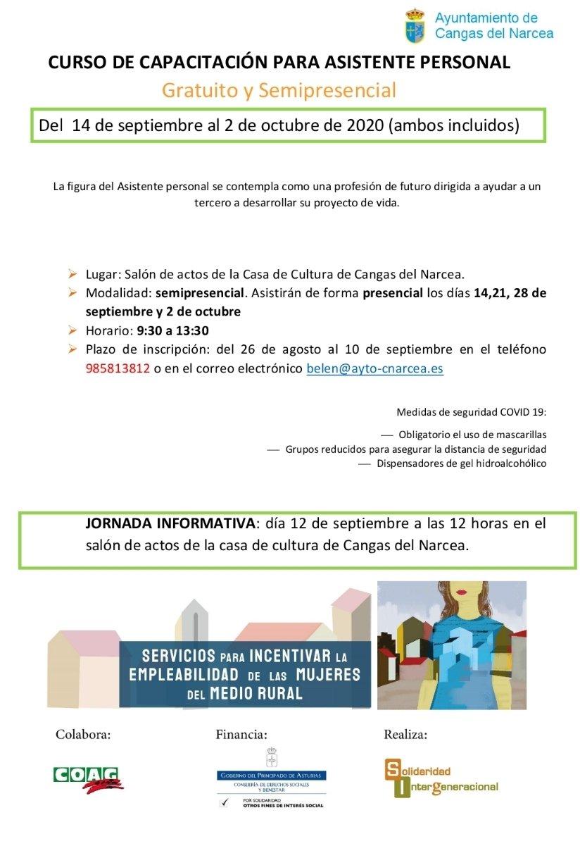 Curso de capacitación para asistente personal en Cangas del Narcea