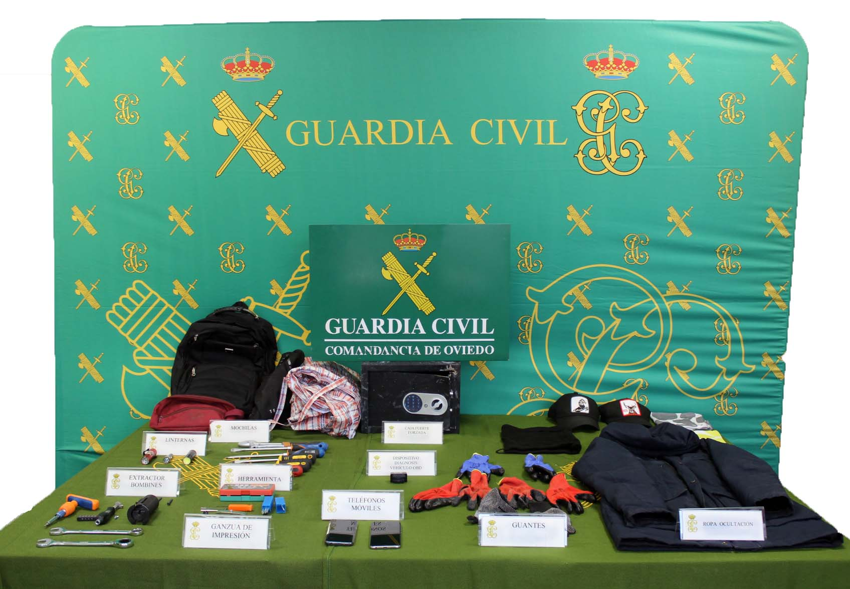 La Guardia Civil desarticula un grupo criminal especializado en el robo con fuerza en colegios públicos y establecimientos de telefonía móvil