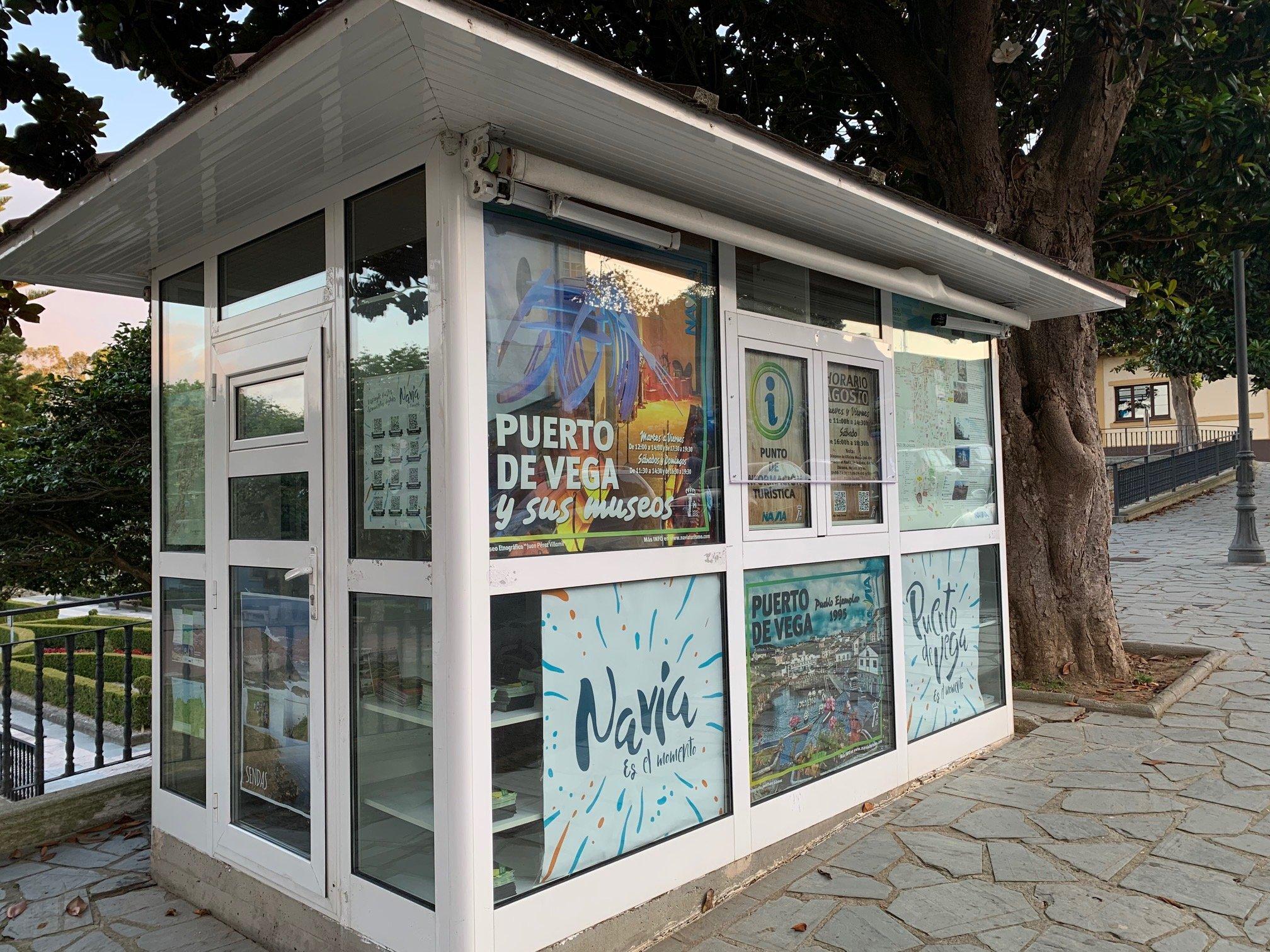 Nuevo punto de información turística en Puerto de Vega (Navia)
