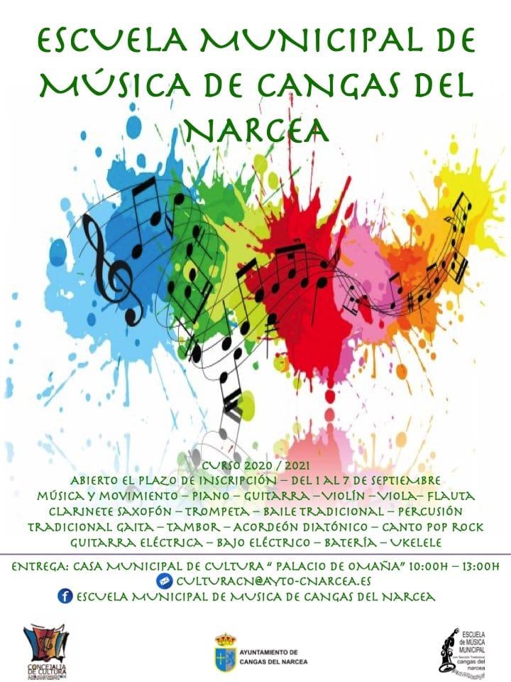 La Escuela de Música de Cangas del Narcea abre un segundo plazo de matrícula entre el 1 y el 7 de septiembre
