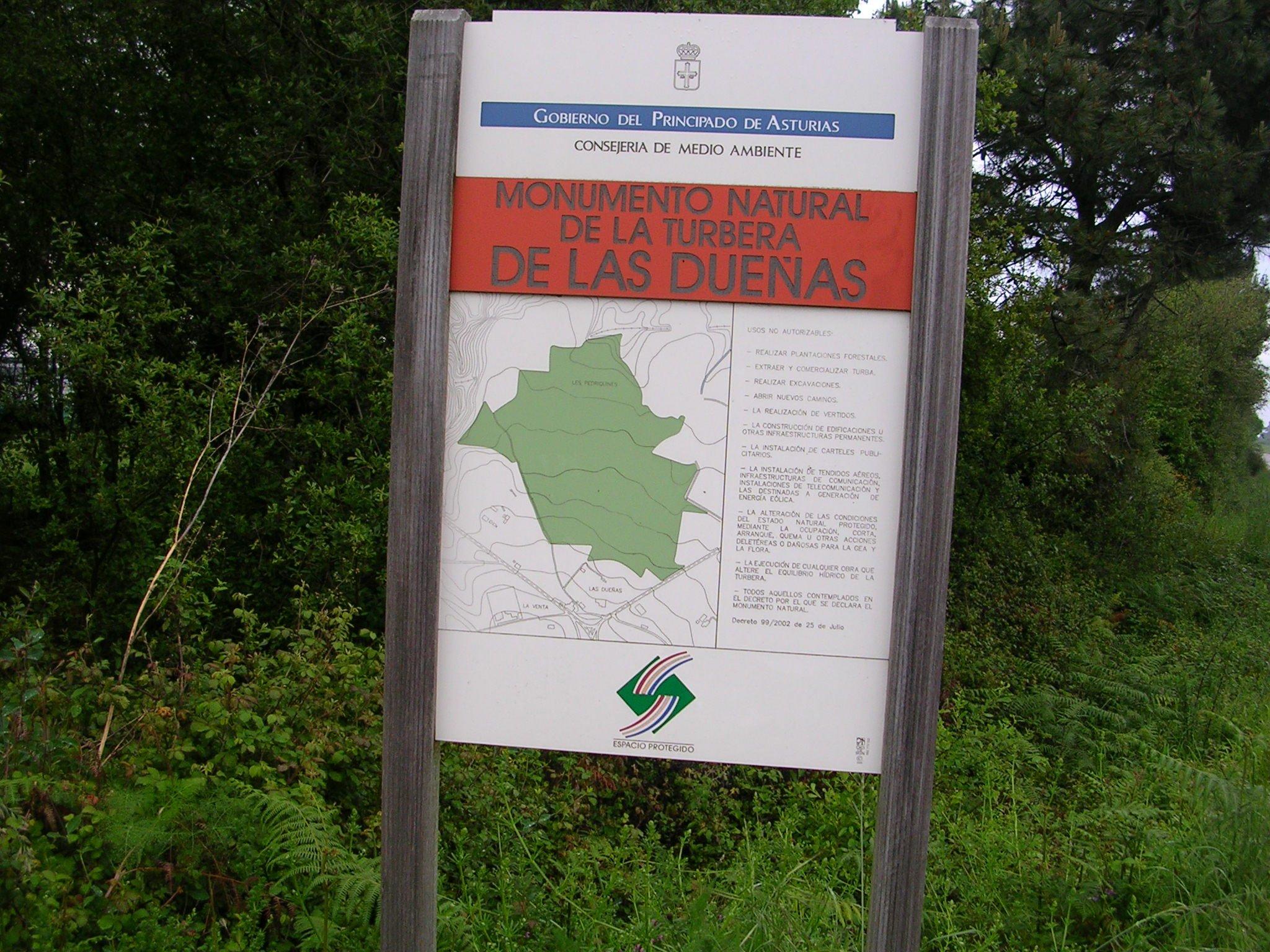 La Coordinadora Ecoloxista d'Asturies pide proteger la turbera de Dueñas en Cudillero