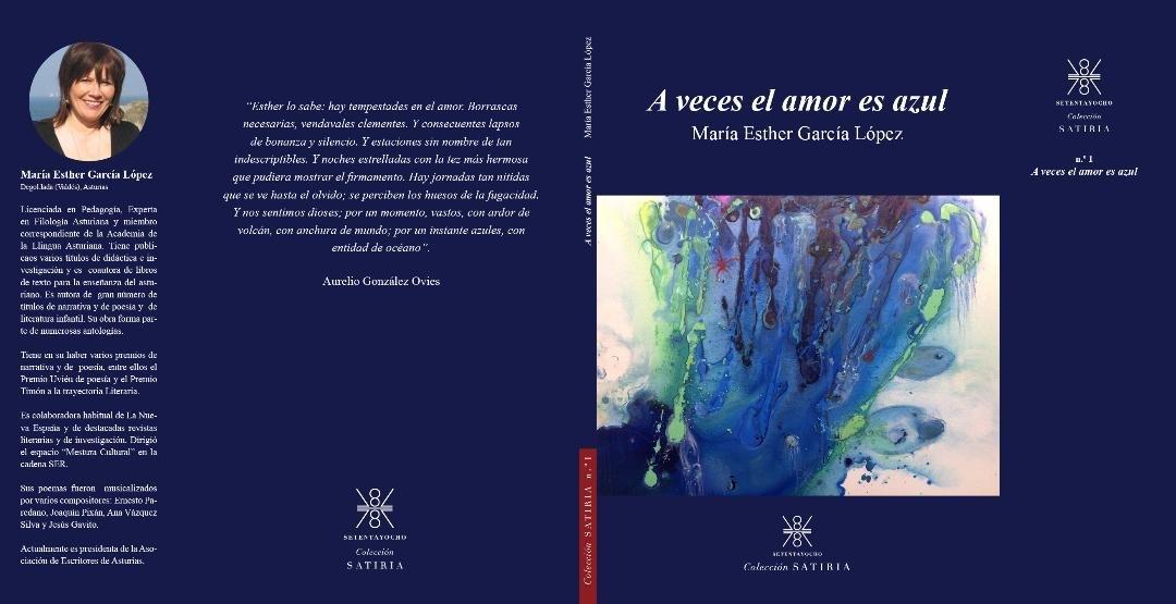 """""""A veces el amor es Azul"""", último poemario de la valdesana Esther García"""