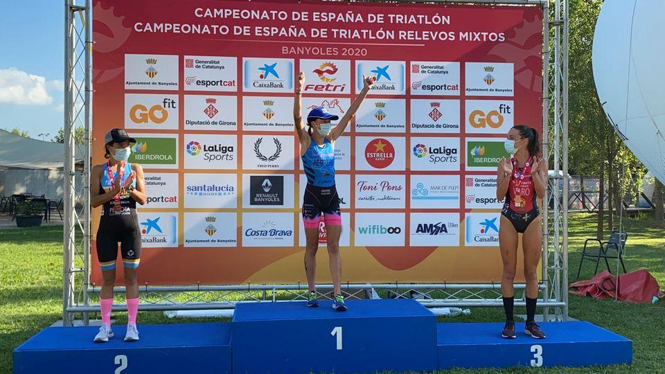 Paula Herrero, campeona de España de Triatlón élite femenino distancia olímpica en FETRIBanyoles