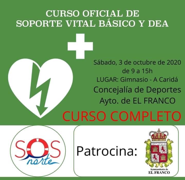 El Ayuntamiento de El Franco organiza un Curso de Manejo de Desfibrilador dirigido a los Clubes Deportivos del Concejo