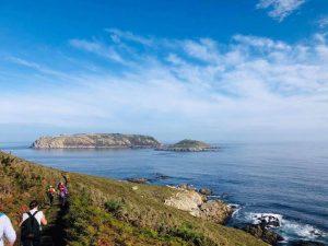 El Grupo Peña Furada realiza estos días El Camino Xacobeo Ruta de los Faros desde Malpica hasta Fisterra