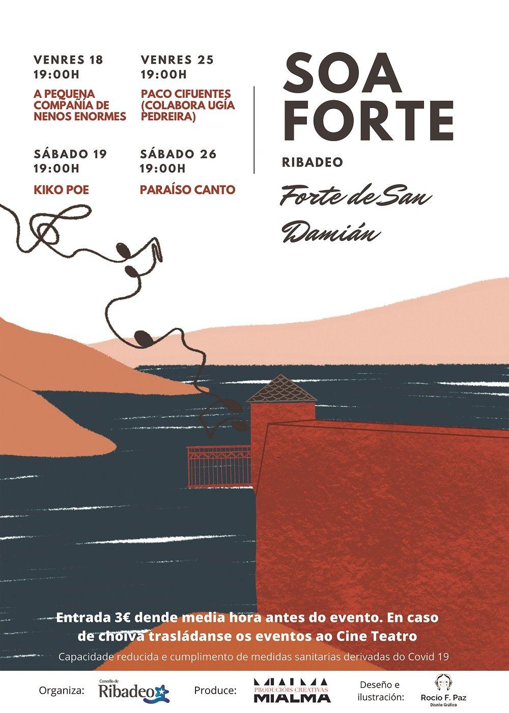 """La concejalía de Cultura de Ribadeo organiza el Ciclo Musical """"Soa Forte"""""""