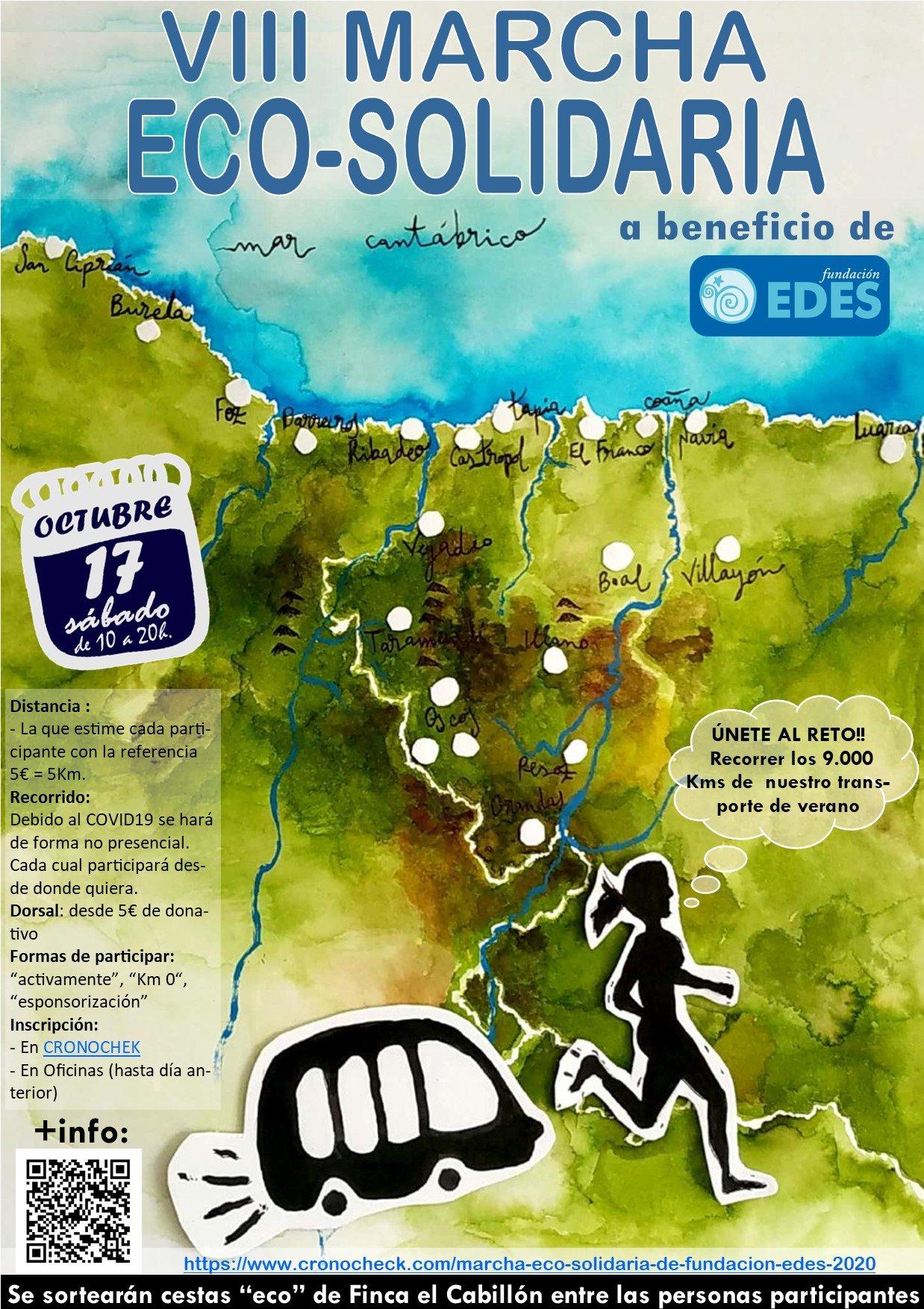 El próximo 17 de Octubre: #EnMarchaConFundaciónEDES VIII Marcha Eco-Solidaria de Fundación EDES