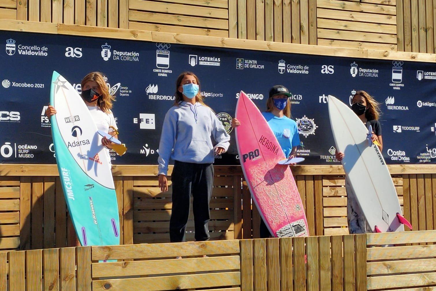 La tapiega Kenia López, Bronce en categoría Sub-14, en el Campeonato de España de Surf