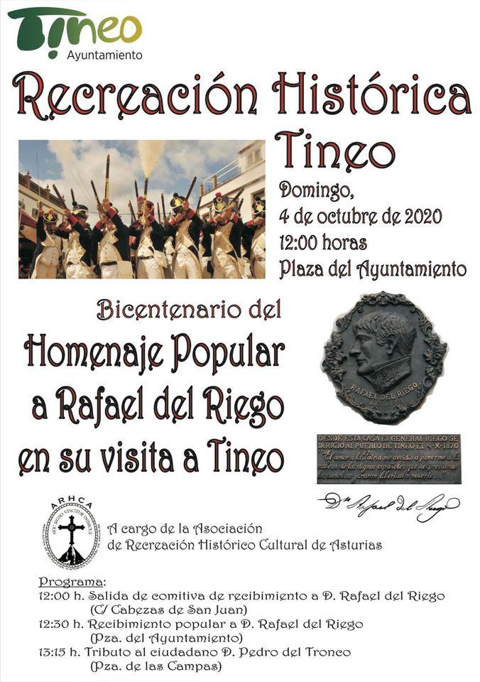 Este domingo Recreación Histórica de la visita del General Riego a Tineo