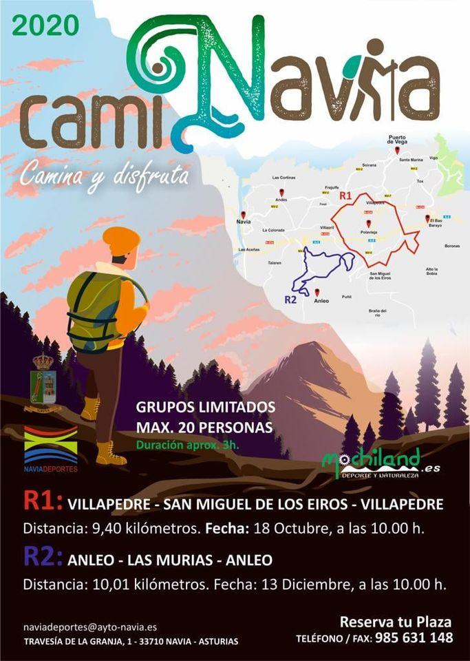 El próximo domingo comienza CamiNavia 2020 con la Ruta Villapedre, San Miguel de Eiros, Villapedre