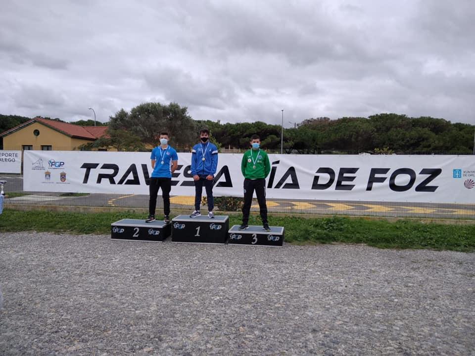 Triunfo del palista de Albiones Diego Fernández Bedia, en la 58 Travesía Ría de Foz de Piragüismo en la categoría K-1 Juvenil