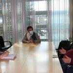 Reunión del Consejero de Medio Rural con la Alcaldesa de Tapia