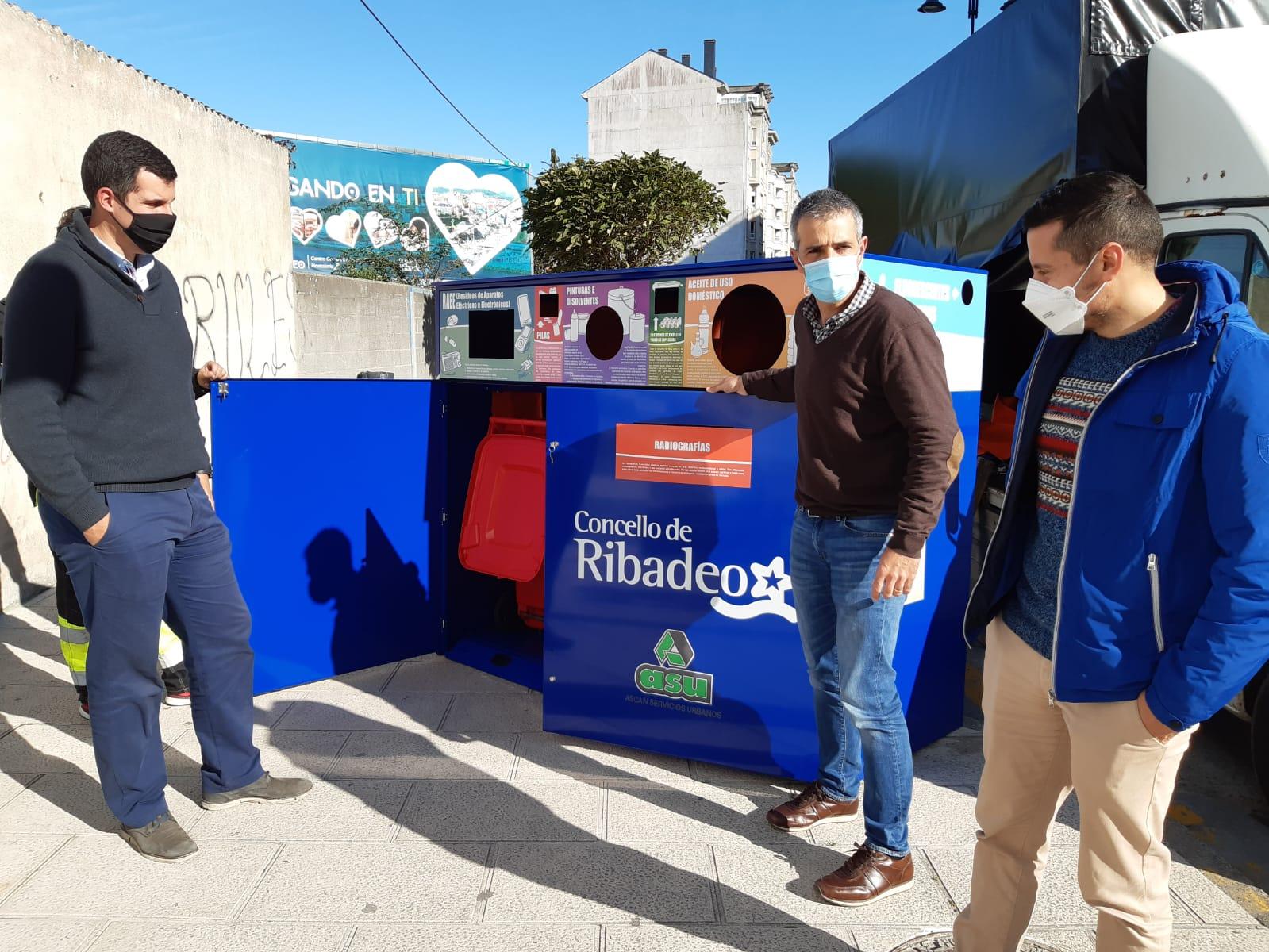 Ribadeo pone a disposición de la ciudadanía dos puntos limpios de proximidad