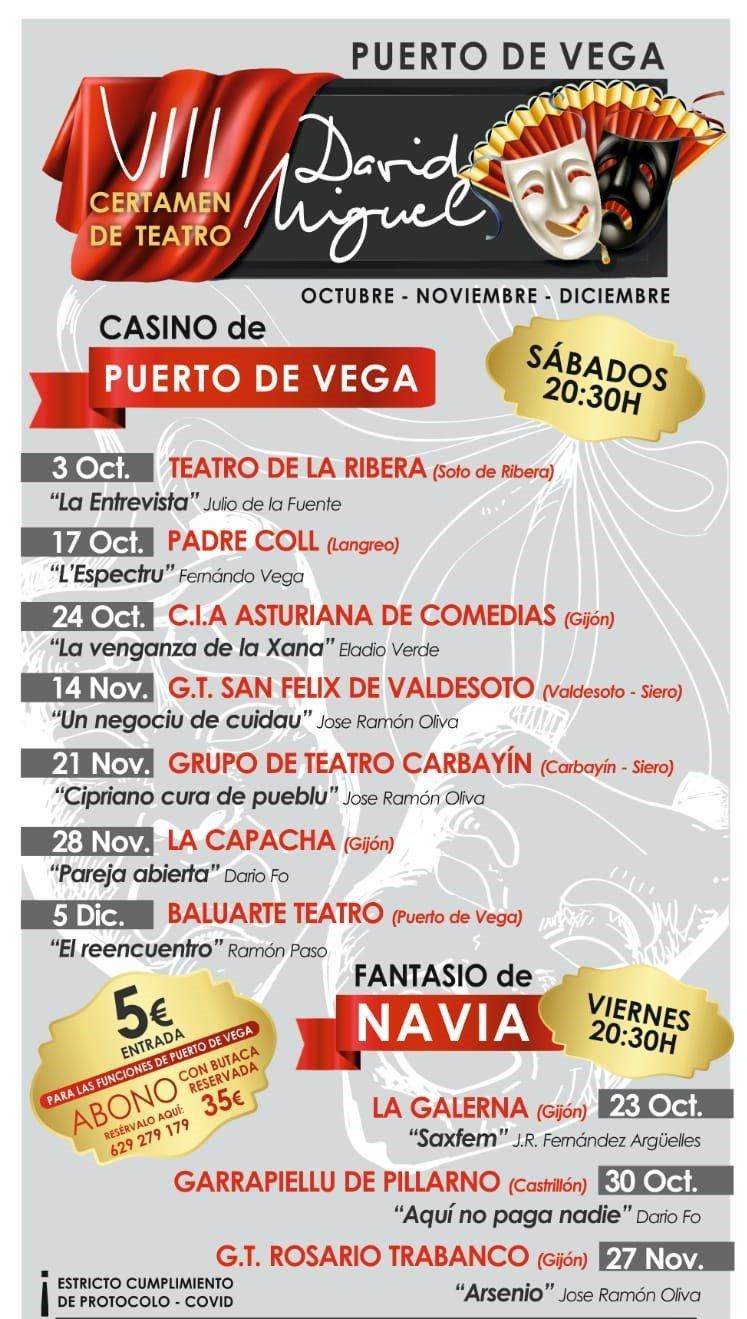 Comienza VIII Certamen de Teatro David Miguel, con representaciones en Puerto de Vega y Navia