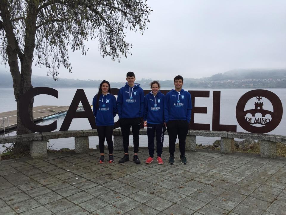 Buenos resultados de los Remeros Ribadenses en el Campeonato Gallego de Remo Olímpico Juvenil y Cadete