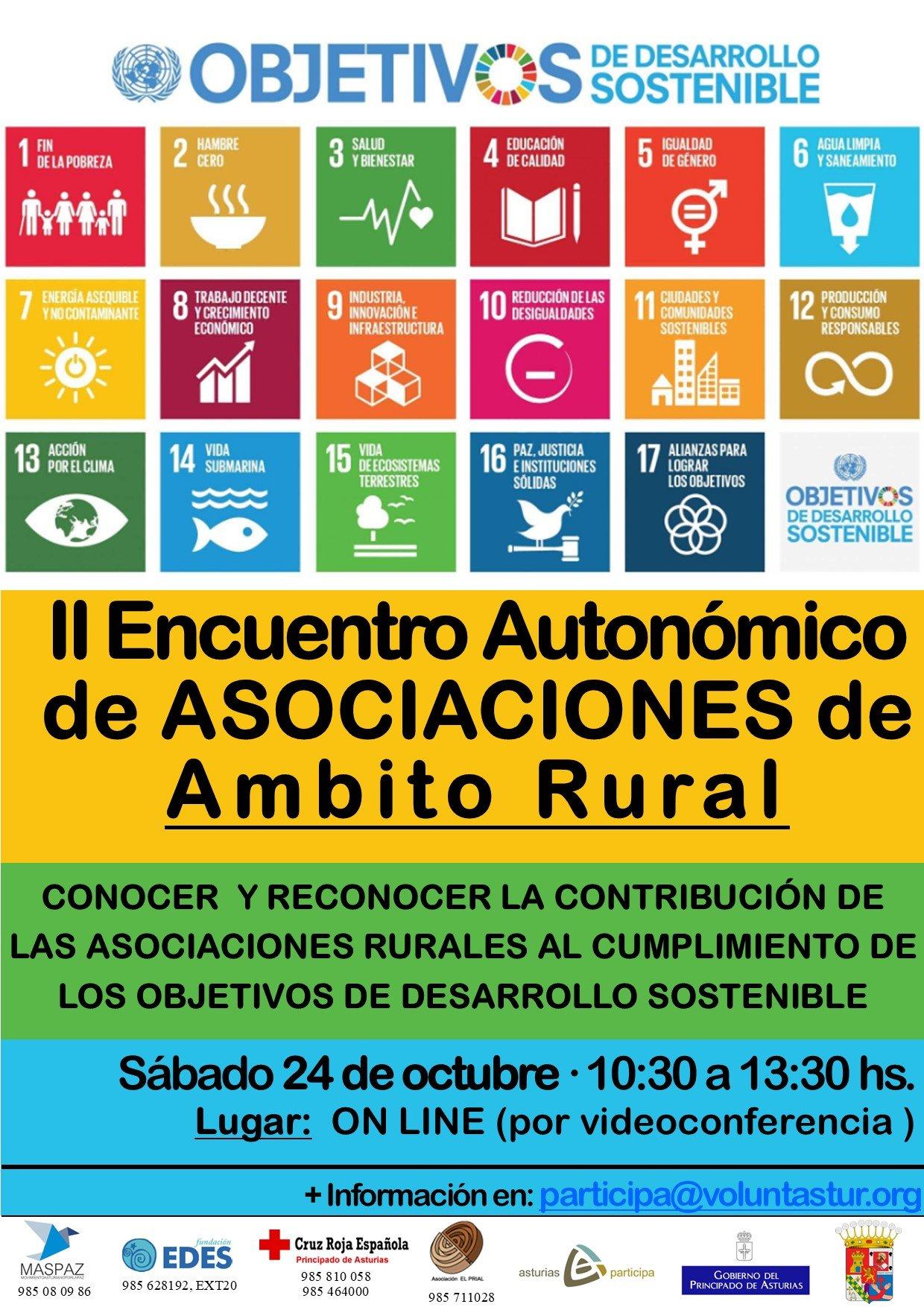 II Encuentro Autonómico de Asociaciones de Ámbito Rural, este sábado, 24 de octubre