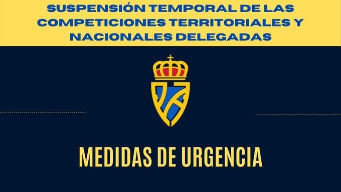 La RFFPA suspende temporalmente las competiciones territoriales y nacionales delegadas (3ª Div./LNJ)