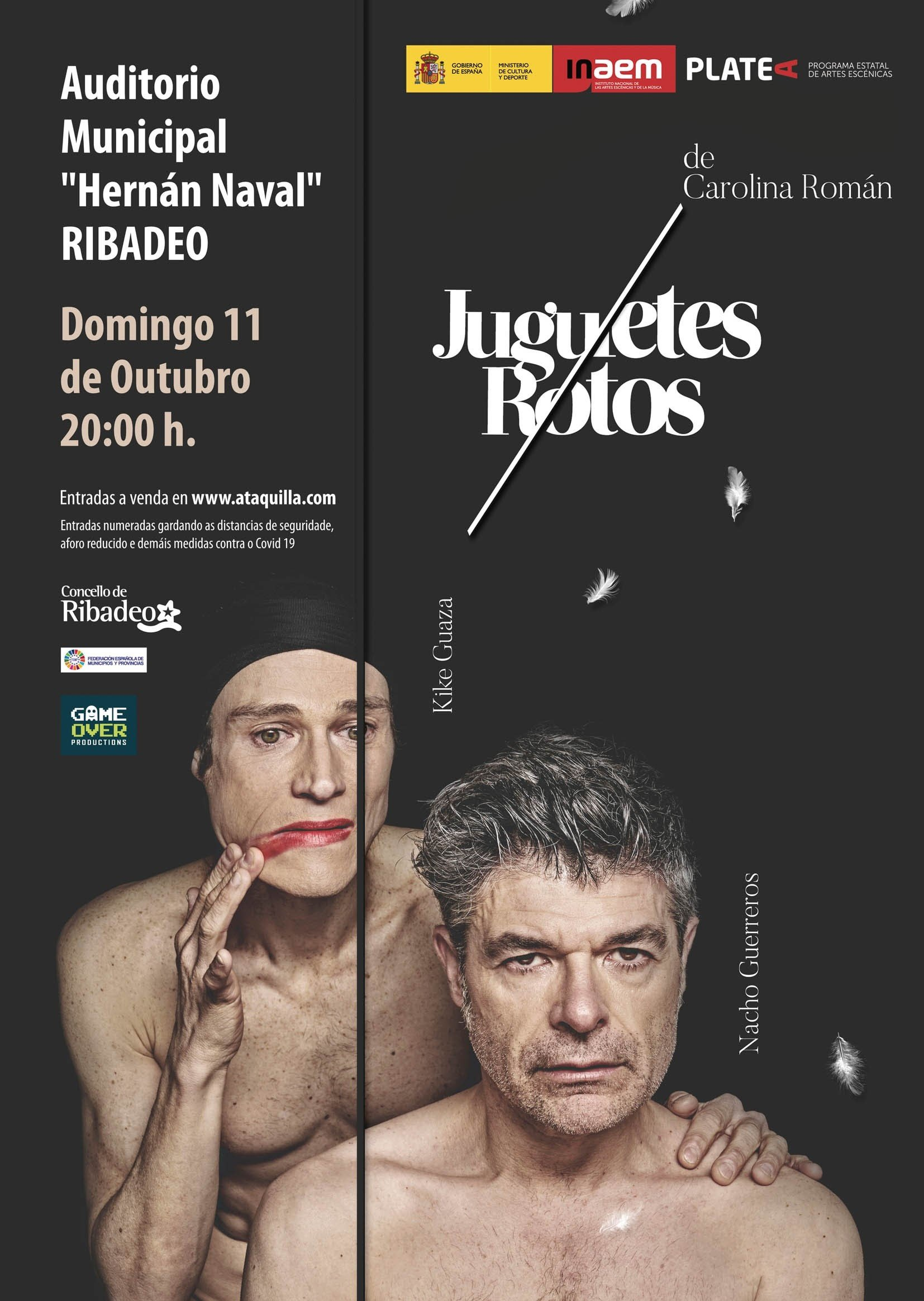 """""""Juguetes Rotos"""" llega al Auditorio de Ribadeo este domingo, 11 de octubre"""