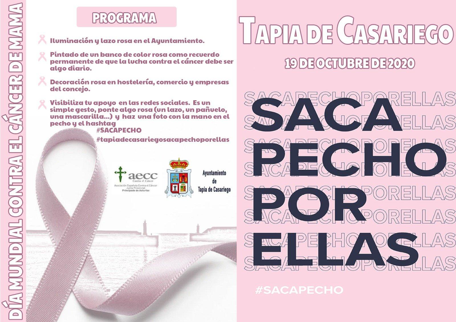 Tapia conmemora el Día Mundial contra el Cáncer de Mama