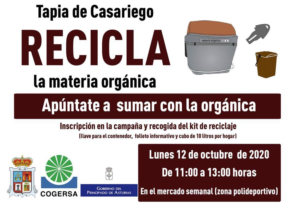 Recicla materia orgánica en Tapia el próximo lunes