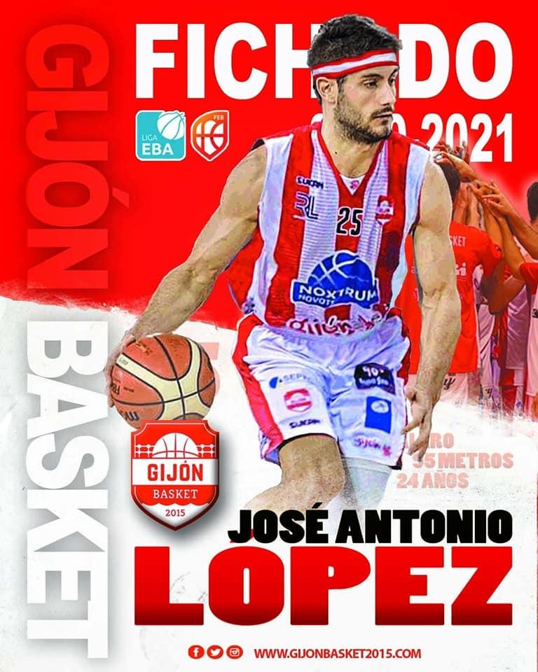 El naviego José Antonio López (Gijón Basket), MVP de la pasada Jornada en Liga EBA