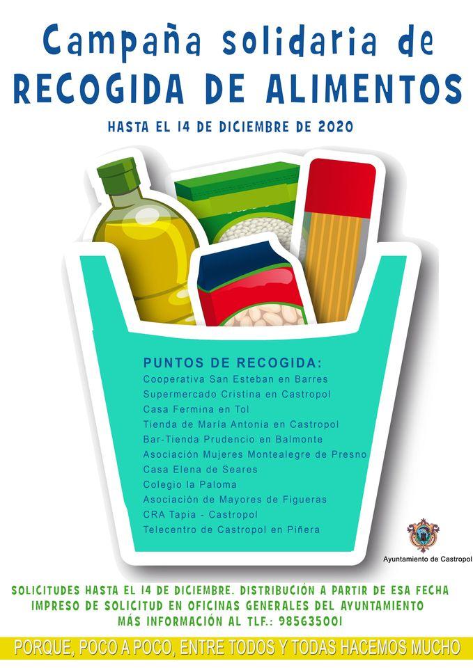 Campaña Solidaria de Recogida de Alimentos en Castropol