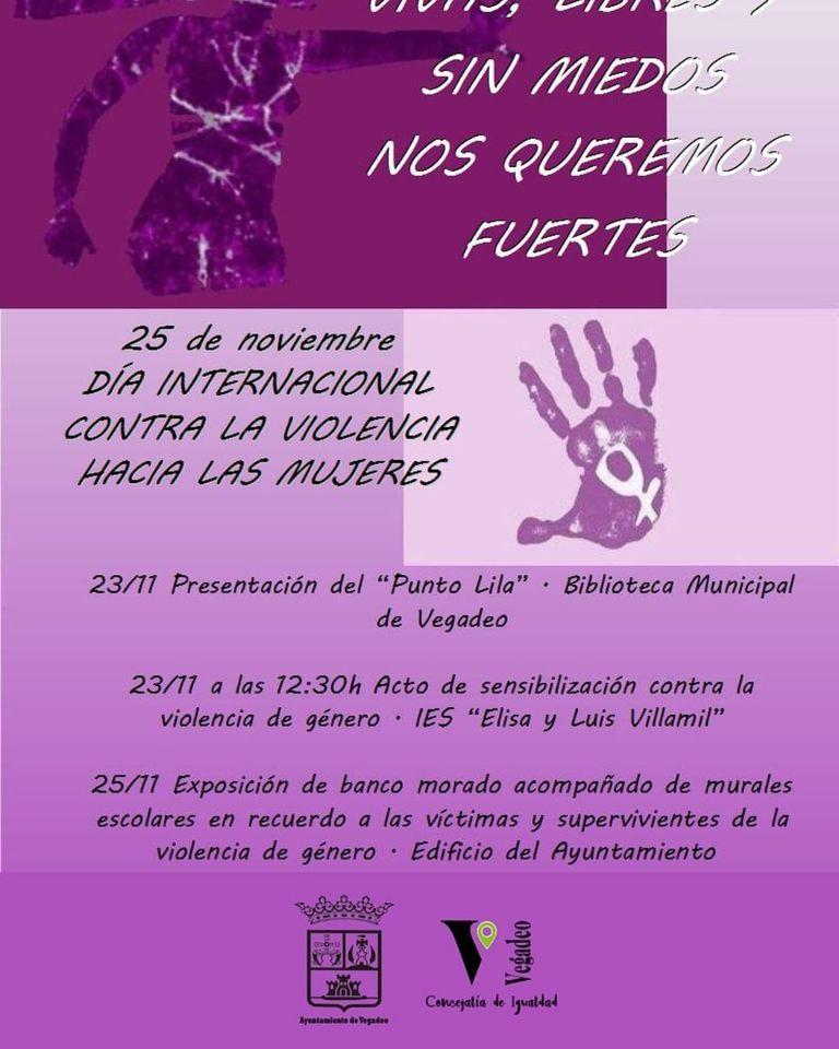 Vegadeo también se suma a la conmemoración del Día Internacional de la Eliminación de la Violencia contra la Mujer.