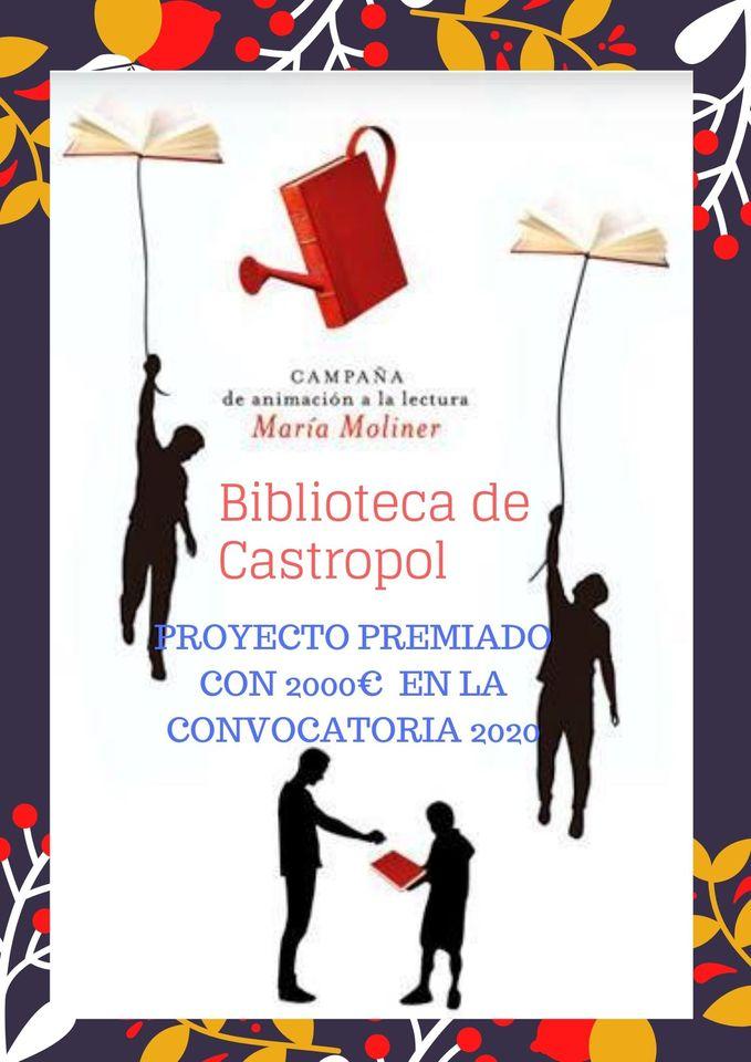 La Biblioteca de Castropol premiada en la Campaña de Animación a la lectura María Moliner 2020