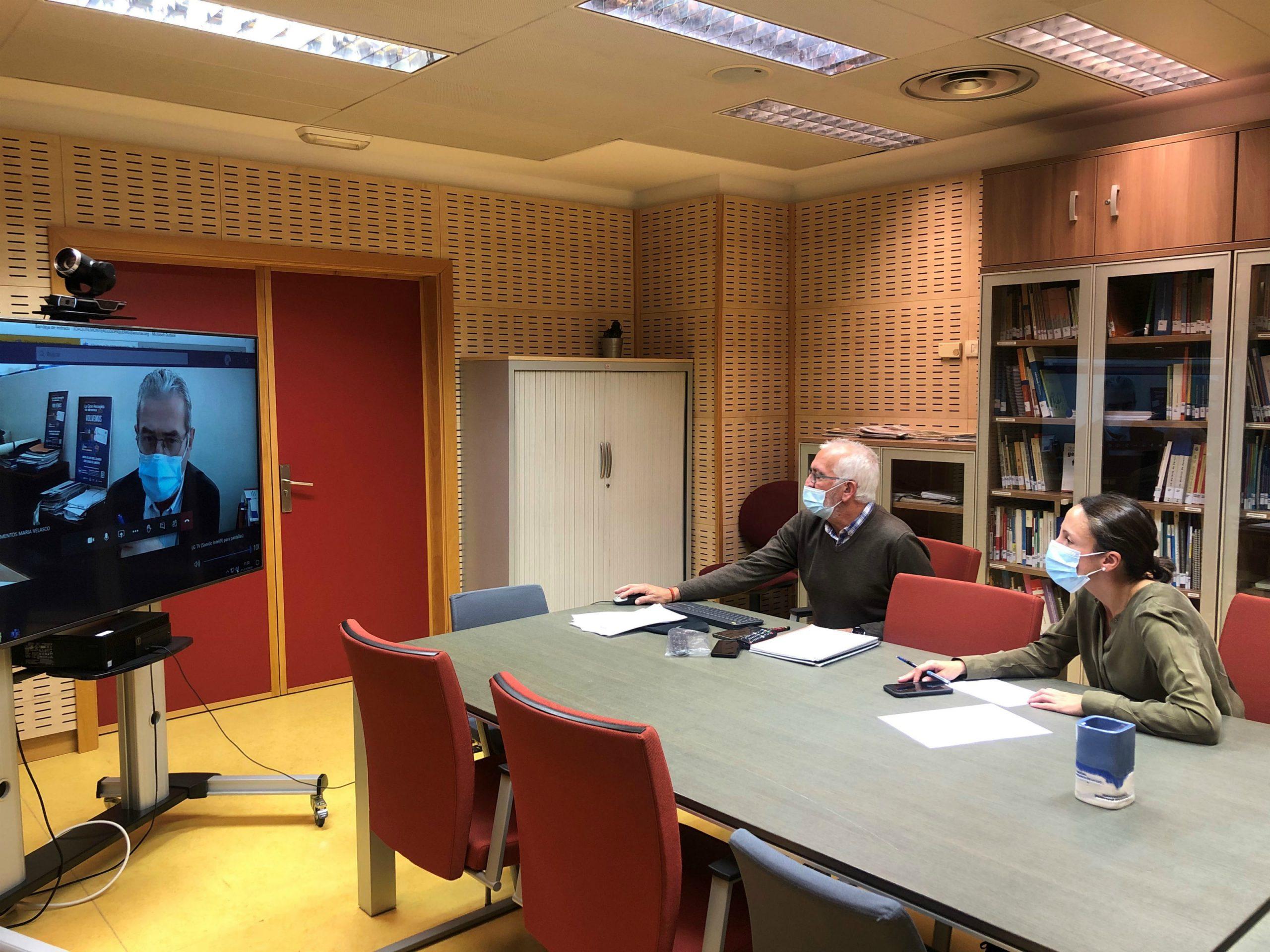 Reunión consejera Derechos Sociales con presidente Banco de Alimentos de Asturias