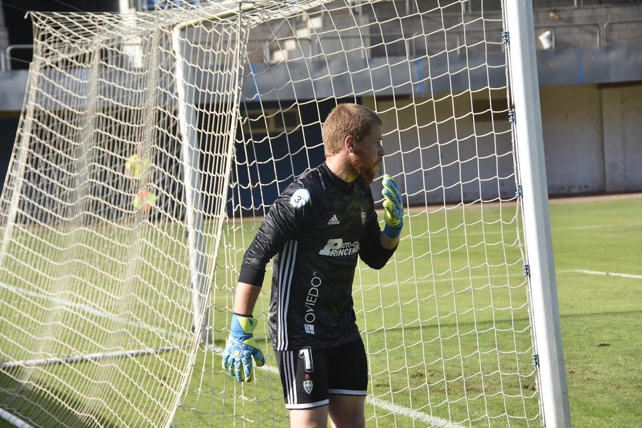 """Aitor Rodríguez (Portero Tapiego CD Covadonga:""""Estamos pagando la inexperiencia en la categoría, en cuanto a juego ningún equipo ha sido muy superior a nosotros hasta ahora"""""""