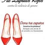 """Valdés desarrolla la campaña  """"Tus zapatos rojos, contra la violencia de género"""""""