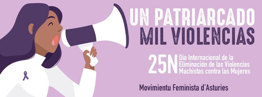 El Movimiento Feminista de Asturias llama a vestirse de negro y malva este 25-N