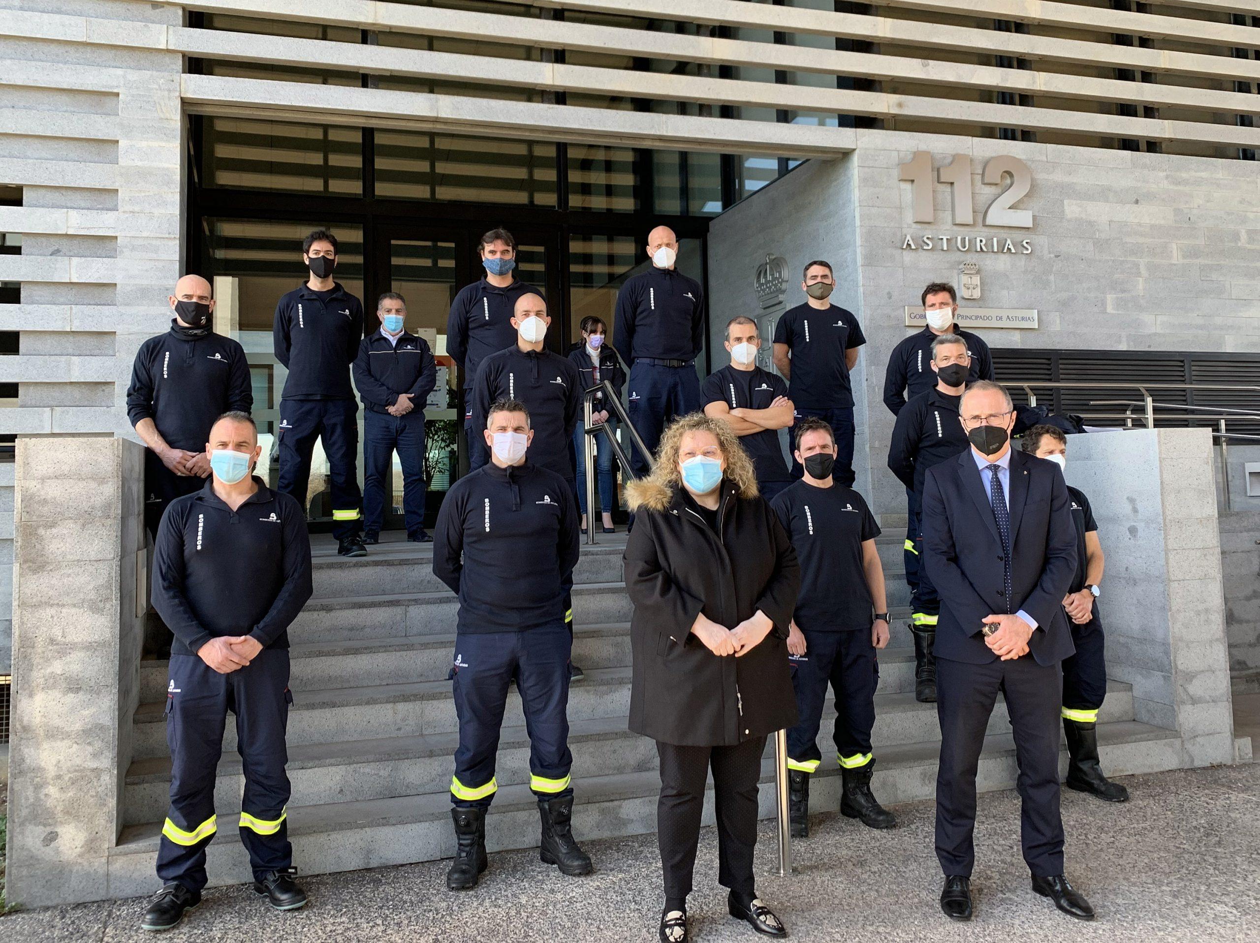 Clausura del Curso de Bomberos Auxiliares de Asturias