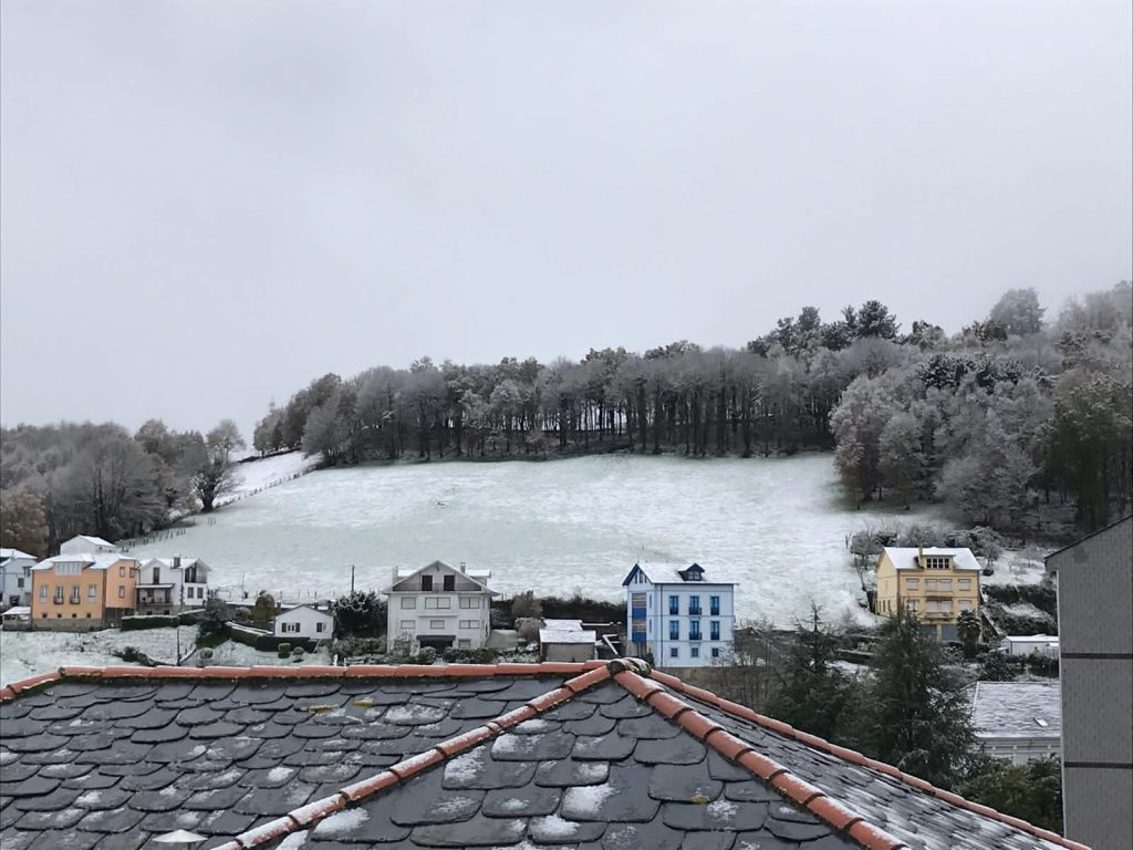 """""""Dora"""" deja las primeras nieves en la comarca"""