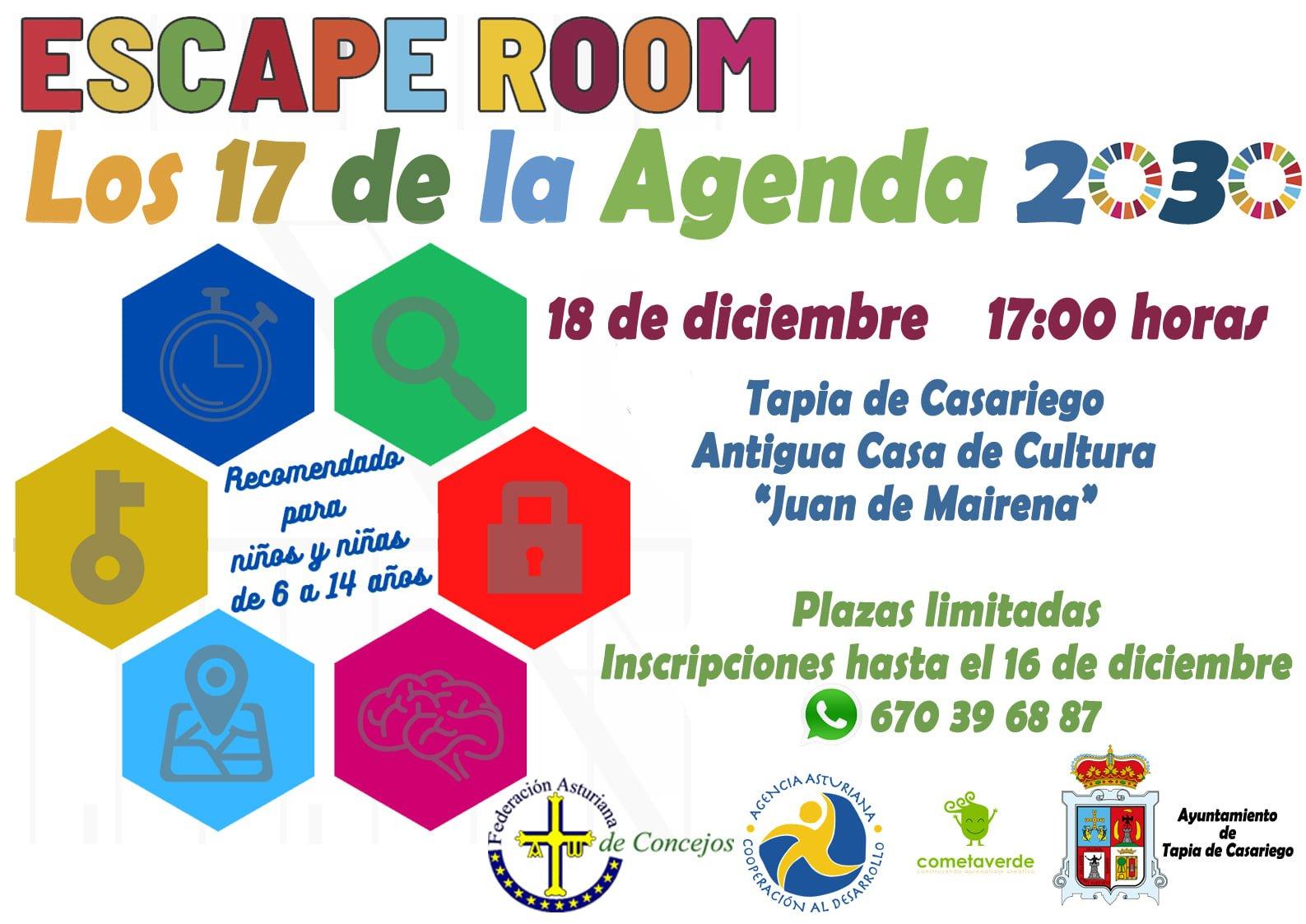 Escape Room sobre la Agenda 2030 en Tapia de Casariego