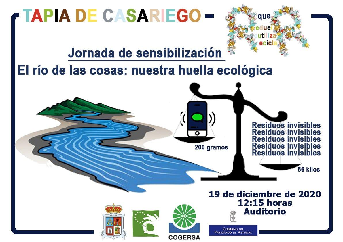 """Jornada de sensibilización """"El río de las cosas: nuestra huella ecológica"""" en Tapia de Casariego"""