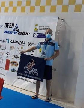 El nadador Alejandro Suárez (Villa de Navia), compitió en el VII Torneo Open Nacional Mareastur de Natación Inclusiva