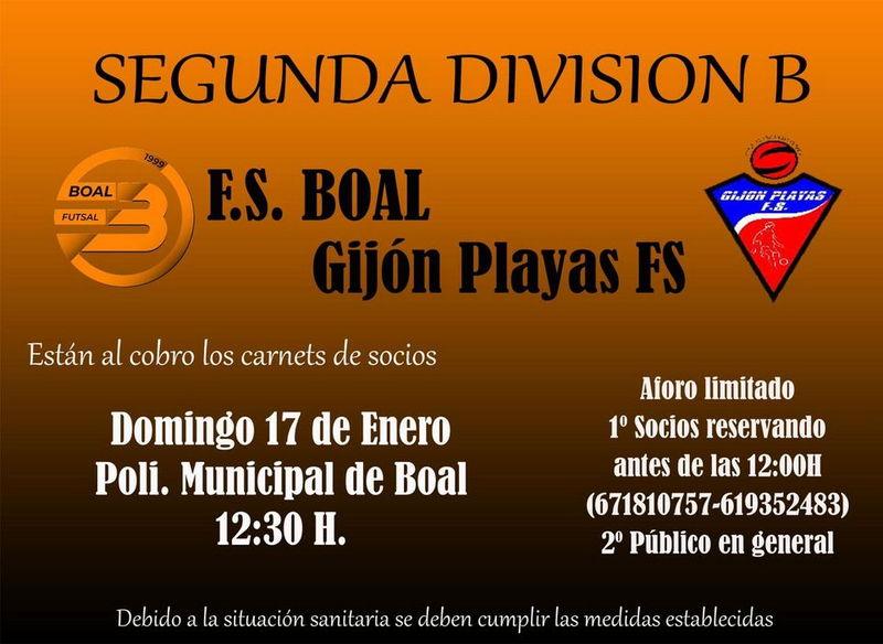 Derbi Asturiano de 2ªB de Fútbol Sala en el Polideportivo de Boal