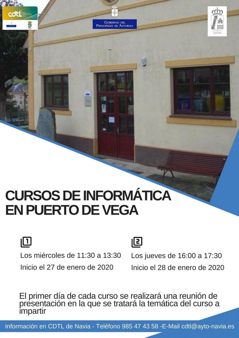 Cursos de informática en la Casa de Cultura de Puerto de Vega