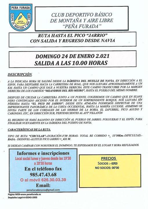 Ruta al Pico de Jarrio del Grupo Peña Furada el próximo domingo