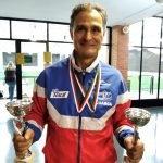 Dos oros para el luarqués Luis Paredano en el Circuito Nacional de Bádminton