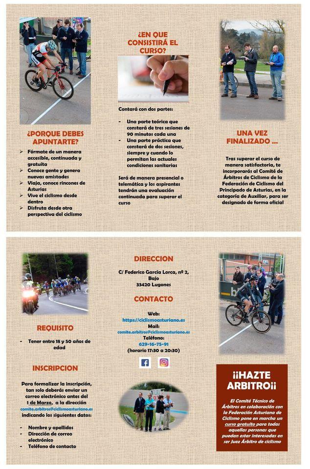 Curso Gratuito para Juez Árbitro de Ciclismo