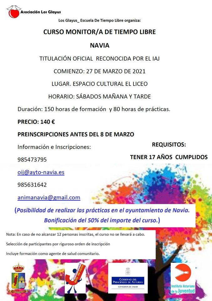 Curso de Monitor/a de Tiempo Libre en Navia