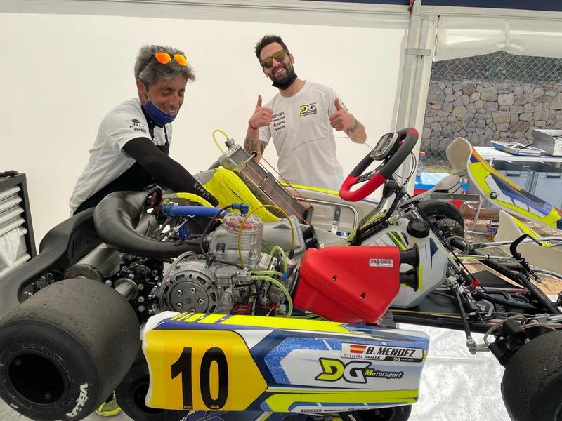 Bruno Méndez (DG Motorsport), sexto en el Karting Comunidad de Valencia