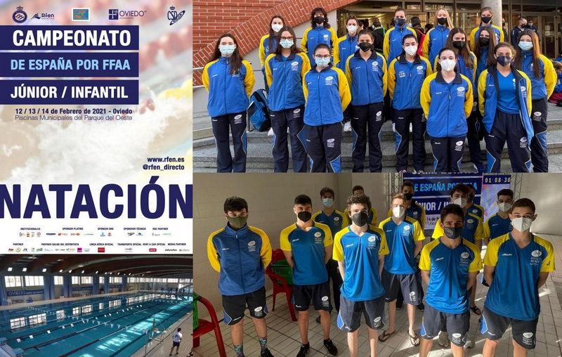 Los Nadadores del Club Villa de Navia Laura Pérez y Lucas F.Brea, compitieron con la Selección Asturiana en el Nacional por Autonomías