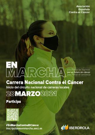 La Carrera Nacional de Asociación Española Contra el Cáncertendrá lugar este domingo28 de marzo.